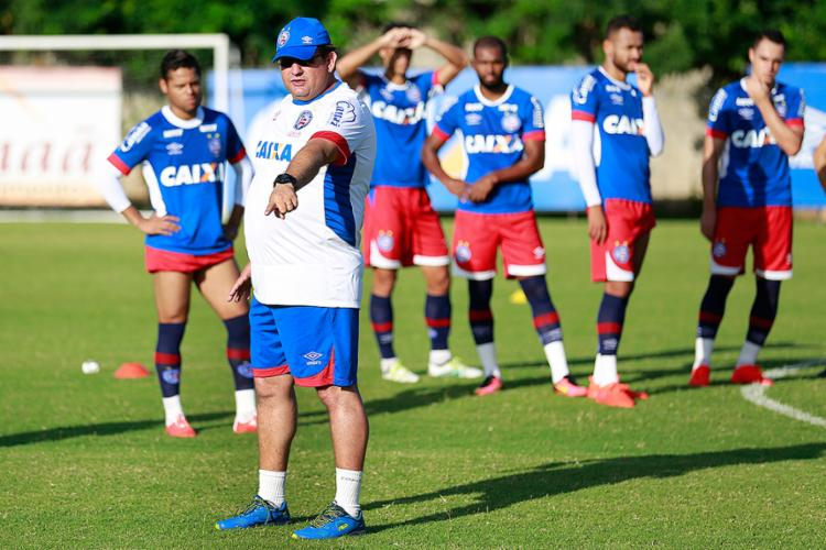 Apesar da má fase do rival, Guto Ferreira pede atenção - Foto: Felipe Oliveira l EC Bahia