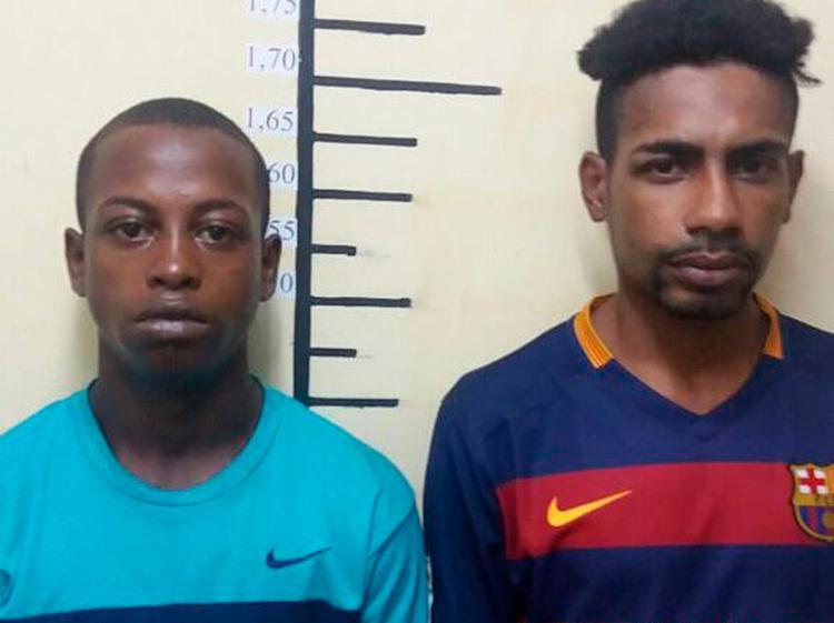 Pretinho (dir.) é apontado como o matador da quadrilha. Zói vende drogas - Foto: Divulgação | Polícia Civil
