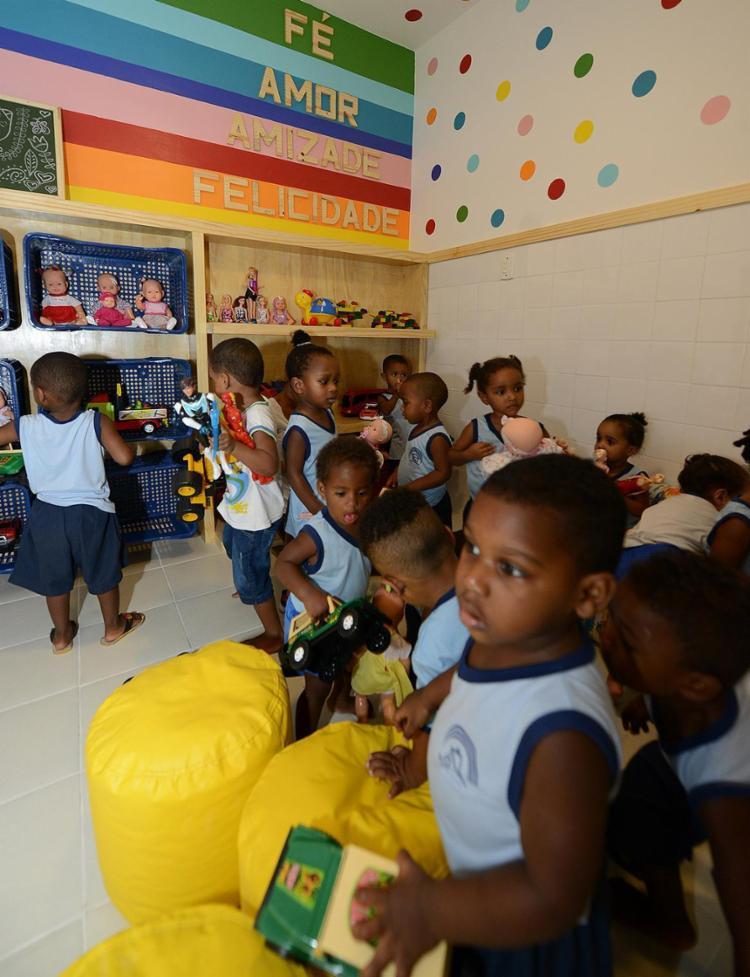 Crianças ficaram animadas na inauguração do novo espaço lúdico da instituição - Foto: Valter Pontes (Coperphoto) l Divulgação