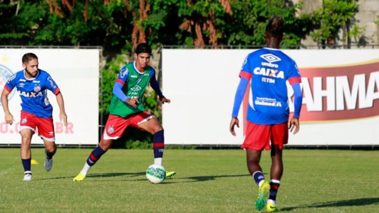 Apenas os reservas foram a campo, trabalharam a parte física e com bola - Foto: Felipe Oliveira | EC Bahia
