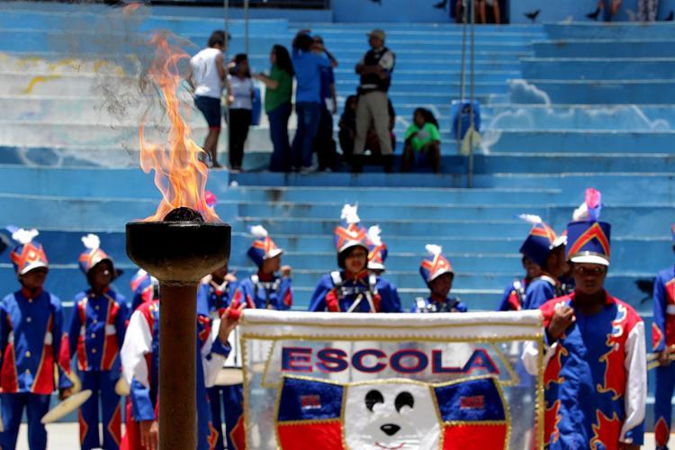 Pira olímpica foi acesa durante cerimônia para celebrar o espírito dos jogos - Foto: Camila Souza (Gov-BA) l Divulgação