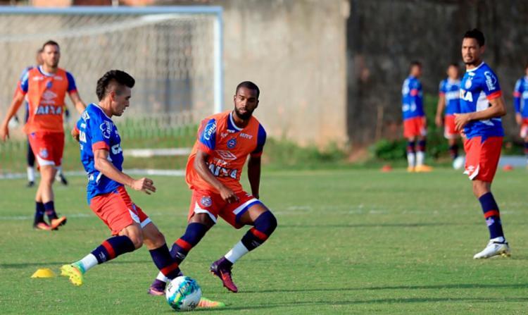 Jogadores do Bahia durante treino desta terça-feira, 25 - Foto: Felipe Oliveira | EC Bahia
