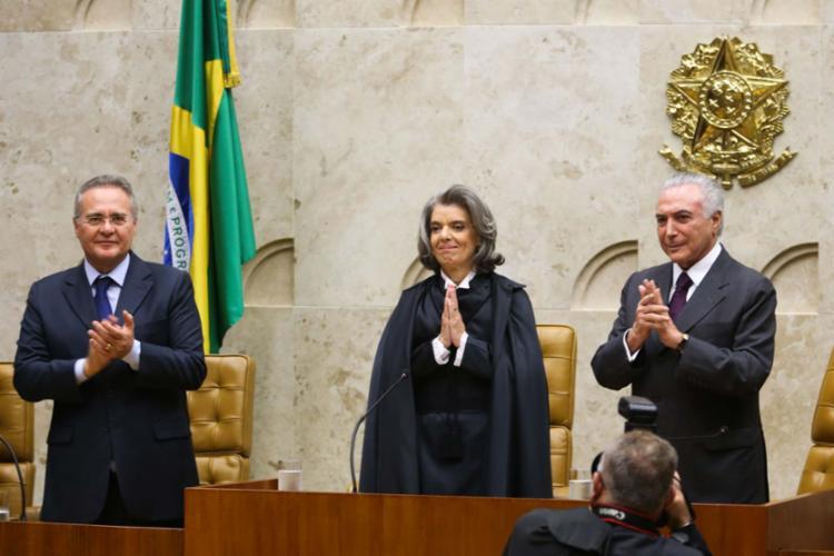 Renan e Carmén Lúcia entraram em rota de colisão após as declarações do presidente do Senado - Foto: Wilson Dias   Agência Brasil
