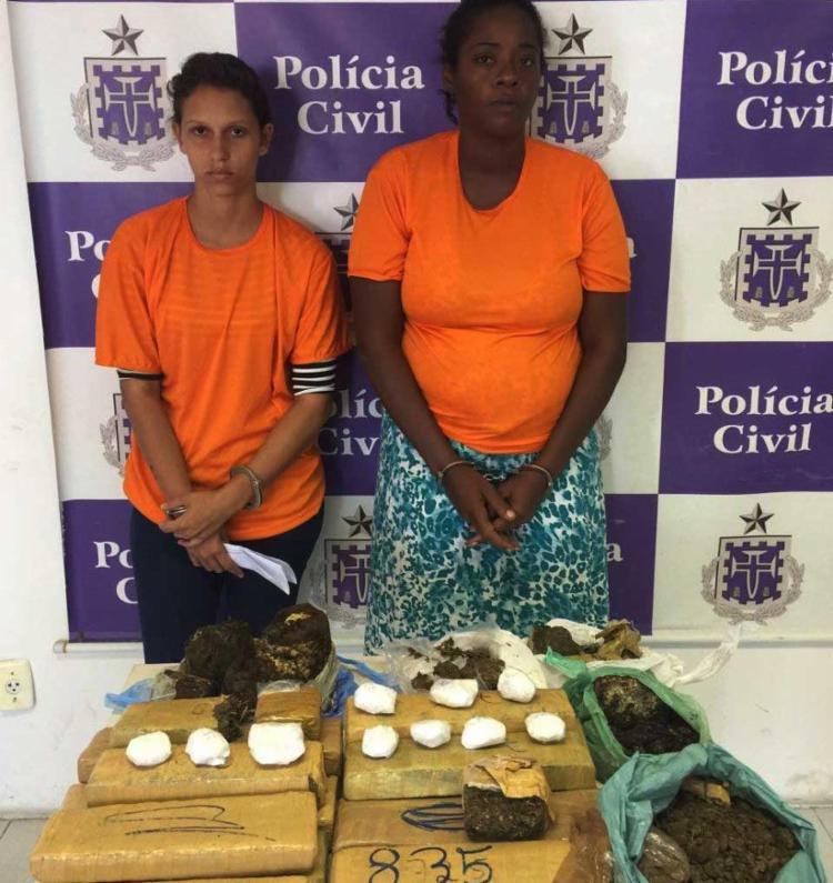 Mulheres foram presas em Sussuarana - Foto: Ascom | Polícia Civil