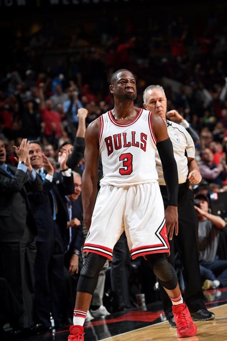 Nos últimos minutos, Wade decidiu o jogo com uma bola de três pontos - Foto: Reprodução | Facebook | Chicago Bulls