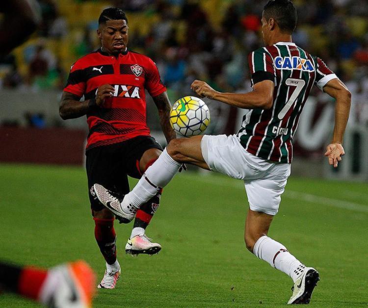 Marinho fez o gol de empate do Vitória aos 43 do segundo tempo - Foto: Nelson Perez l Fluminense F.C.