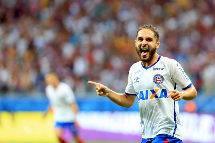 Régis entrou no segundo tempo e mudou o jogo para o Tricolor - Foto: Felipe Oliveira | EC Bahia