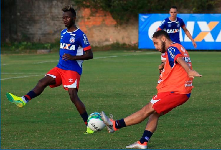 Reservas participaram de atividade nesta segunda-feira, 31 - Foto: Felipe Oliveira | EC Bahia