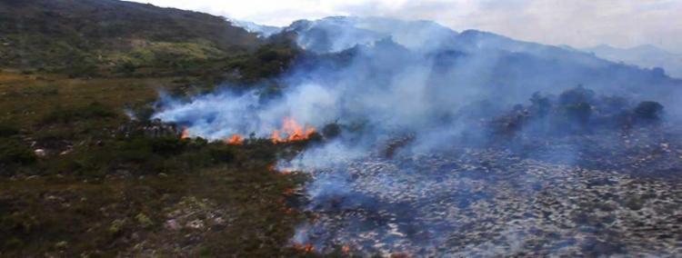 Incêndio foi identificado no domingo, 30 - Foto: Kal Pau-Ferro   Divulgação