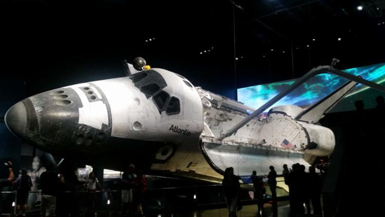 Ônibus Espacial Atlantis é um dos destaques do complexo - Foto: Kennedy Space Center Visitor Complex | Divulgação