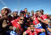 Confira fotos da festa de torcedores e jogadores do Bahia | Foto: