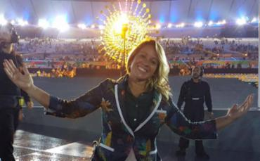 Verônica Mauadie na abertura da Paralimpíada - Foto: Acervo pessoal