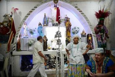 Tenda Espírita Vovó Maria Conga de Aruanda, no Estácio, foi a primeira instituição cadastrada no mapa de terreiros - Foto: Tânia Rêgo/Agência Brasil