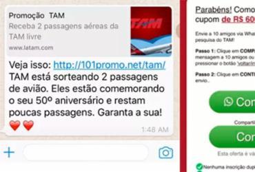 Golpe oferece promoção em passagem aérea pelo WhatsApp