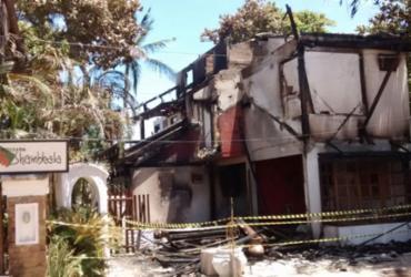 Incêndio destrói pousada na cidade de Itacaré