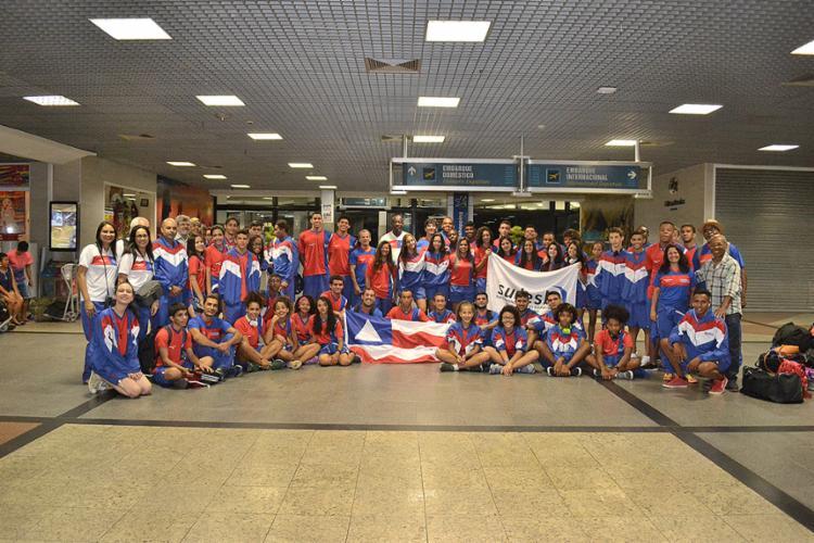 Delegação baiana embarcou na madrugada desta quinta-feira, 10 - Foto: Divulgação l Sudesb