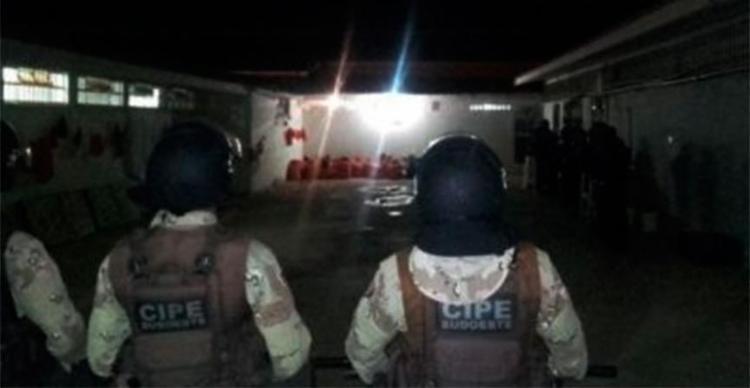 Policia militares ajudaram a controlar o protesto no presídio - Foto: Divulgação | PM