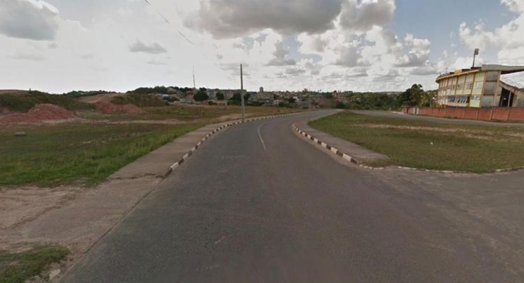 O corpo estava em uma pista de bicicross em frente ao estádio - Foto: Reprodução | Google Maps