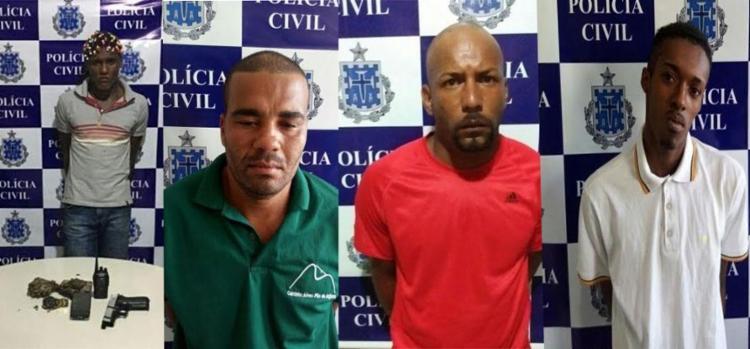 Os quatro homens foram encaminhados para o sistema prisional - Foto: Polícia Civil   Divulgação