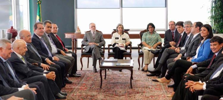 Rui Costa e demais governadores durante audiência no STF no último dia 8 - Foto: Nelson Jr.   SCO   STF