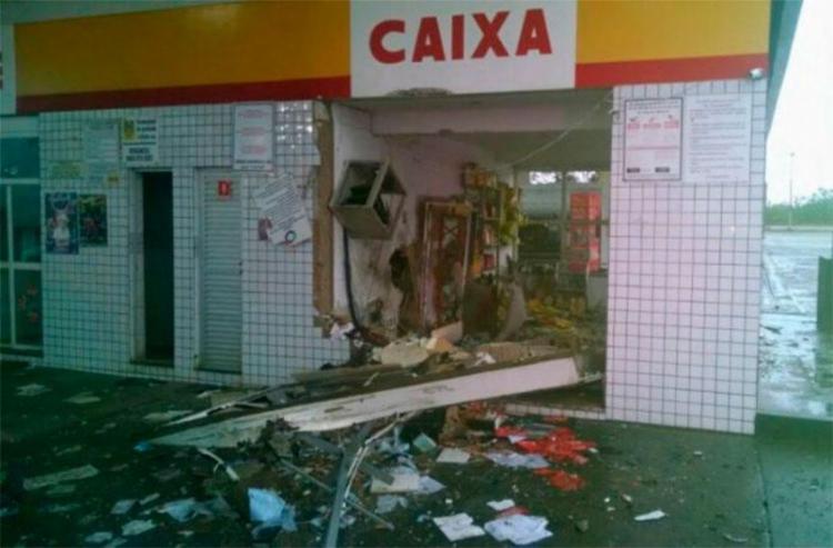 Explosão destruiu loja de conveniência no interior da Bahia - Foto: Reprodução   Nildo Freitas