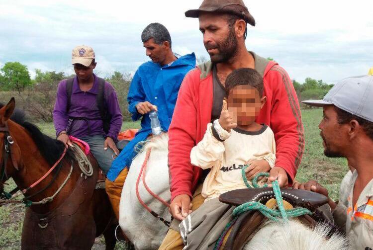 A criança foi encontrada na tarde deste domingo, 14 - Foto: Reprodução | Jadiel Luiz | Blog Sigi Vilares