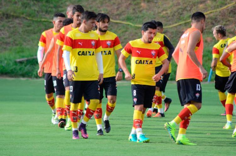 O time treinou na tarde desta segunda-feira, 14 - Foto: Francisco Galvão   EC Vitória