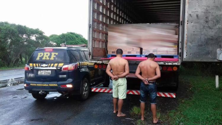 A carreta foi roubada dias antes no município de Alagoinhas - Foto: Reprodução   PRF
