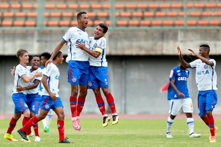 Garotos do sub-20 venceram Cruzeiro no duelo de ida em Pituaçu por 1 a 0 - Foto: Felipe Oliveira | EC Bahia | Divulgação