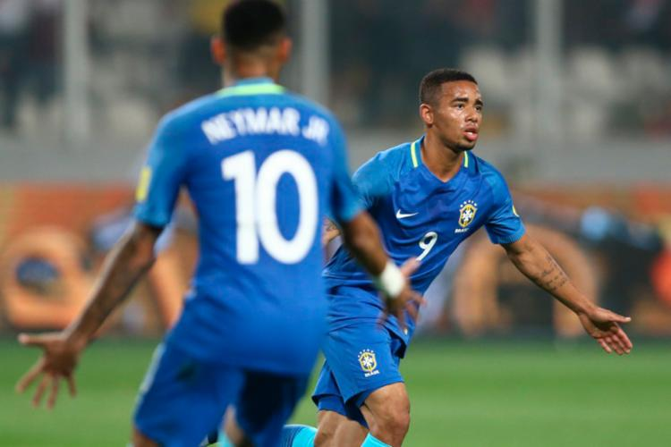 Gabriel Jesus foi destaque da partida com um gol e uma assistência - Foto: Lucas Figueiredo | CBF