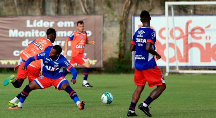 Os atletas treinaram forte nesta quarta-feira, 16 - Foto: Felipe Oliveira | EC Bahia