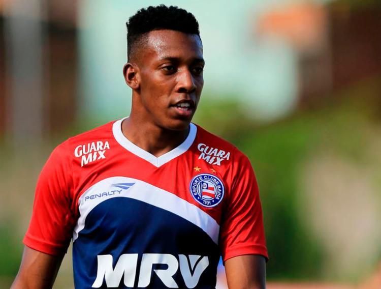 Moisés foi punido por ter xingado os árbitros no jogo diante do Vila Nova - Foto: Felipe Oliveira | EC Bahia