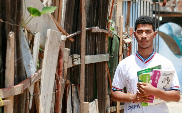 Iuri Carvalho foi o único estudante selecionado de escola pública na Bahia - Foto: Luciano da Matta | Ag. A TARDE