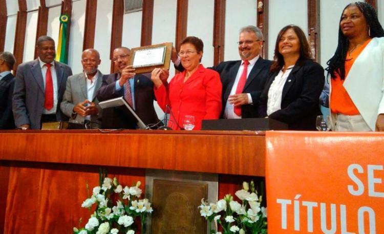Homenagem foi proposta pela deputada estadual Fátima Nunes (PT) - Foto: Luan Santos | Divulgação