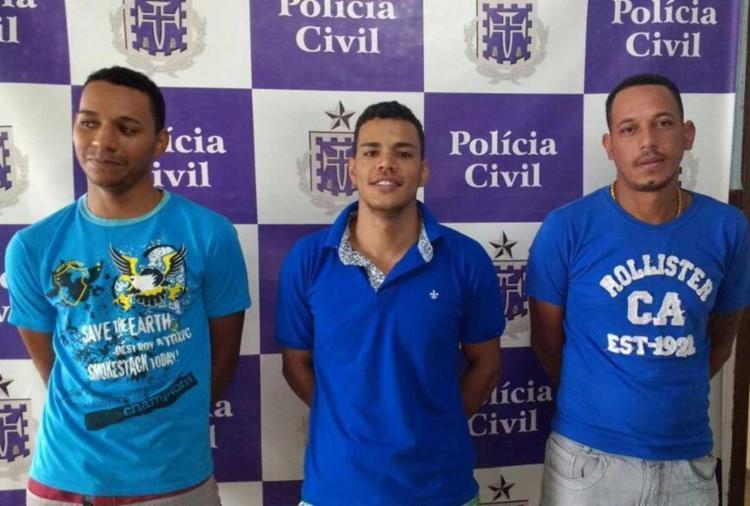 Leandro e Caio estavam foragidos por homicídio, Edicarlos é acusado de tráfico - Foto: Polícia Civil | Divulgação