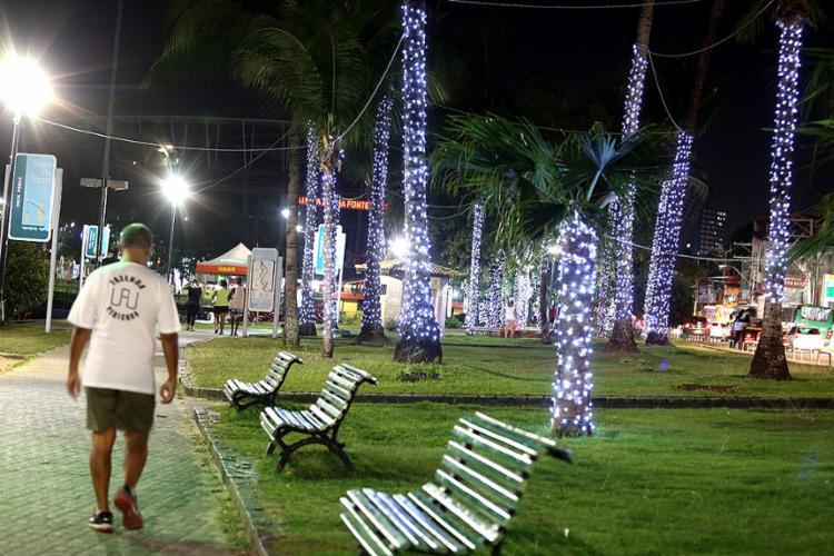 No Dique do Tororó, decoração está quase finalizada - Foto: Joá Souza l Ag. A TARDE