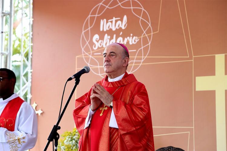 O arcebispo Dom Murilo Krieger presidiu missa na Casa do Comércio - Foto: Divulgação l Fecomércio-BA