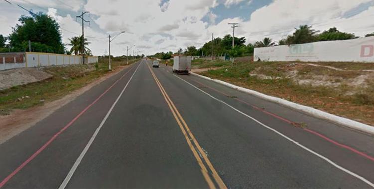 Cláudio foi morto na altura do povoado de Santa Rosa em Conceição do Coité - Foto: Reprodução | Google Maps