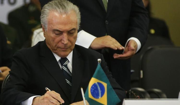 Temer lamenta morte de PMs em queda de helicóptero na Cidade de Deus - Foto: Valter Campanato | Agência Brasil