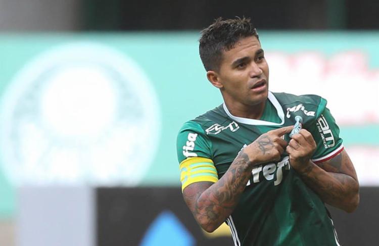Dudu fez o gol da vitória do Palmeiras diante do Botafogo - Foto: Reprodução   Facebook   S.E. Palmeiras