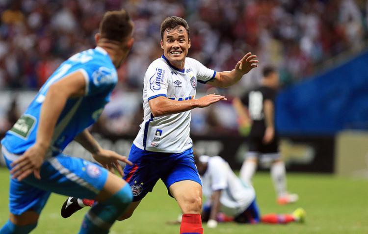 Cajá disse que já estava sem esperanças de entrar no jogo - Foto: Felipe Oliveira l EC Bahia