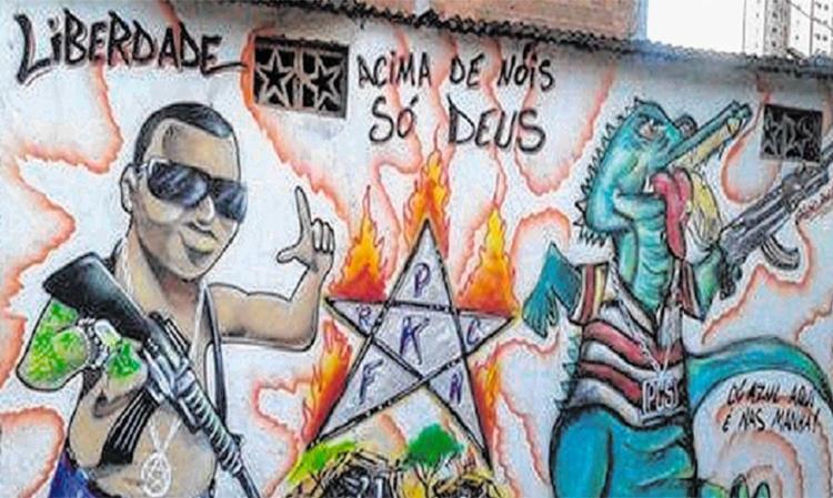 Pichação em muro de Pernambués traz estrela símbolo da Katiara - Foto: Divulgação   Alden José Lázaro da Silva