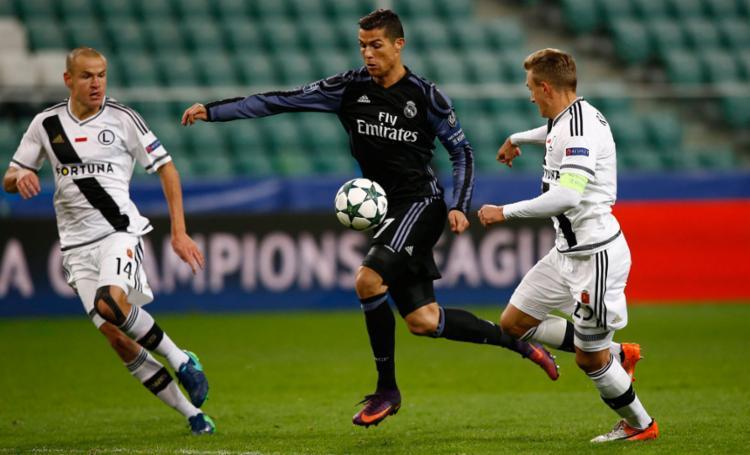 Cristiano Ronaldo não foi efetivo durante a partida - Foto: Kacper Pempel | Reuters