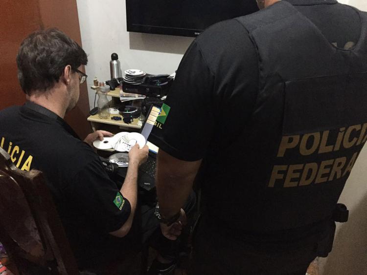 Agentes da PF cumpriram mandados de busca e apreensão na Operação Darknet - Foto: Polícia Federal l Divulgação