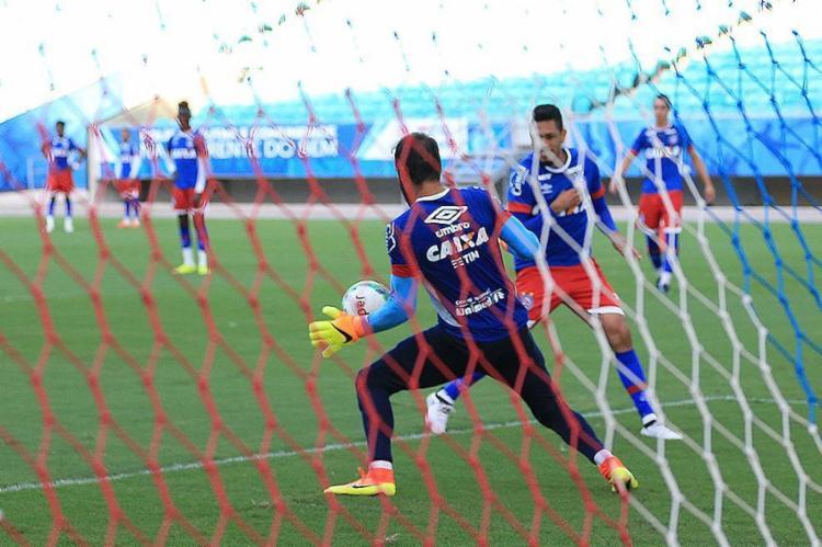 Muriel tem a tarefa de evitar que o Bahia sofra gols - Foto: Felipe Oliveira l EC Bahia
