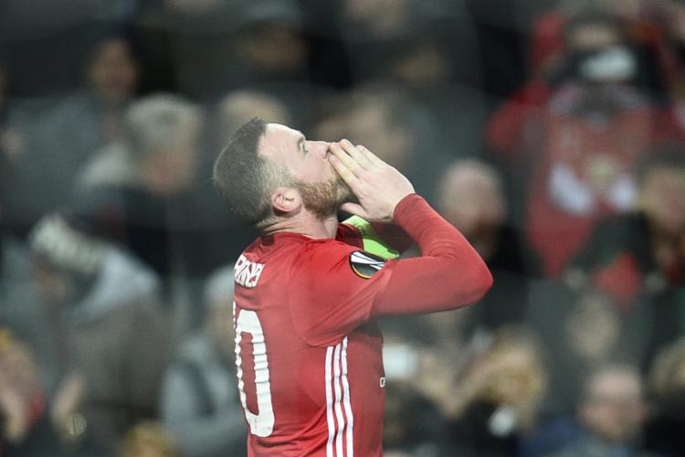 Rooney bateu recorde de gols em competições continentais pelo United - Foto: Oli Scarff | AFP