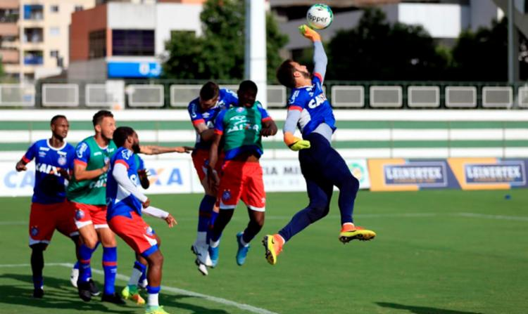 O elenco do Tricolor treinou em Goiânia nesta sexta-feira - Foto: Felipe Oliveira | EC Bahia