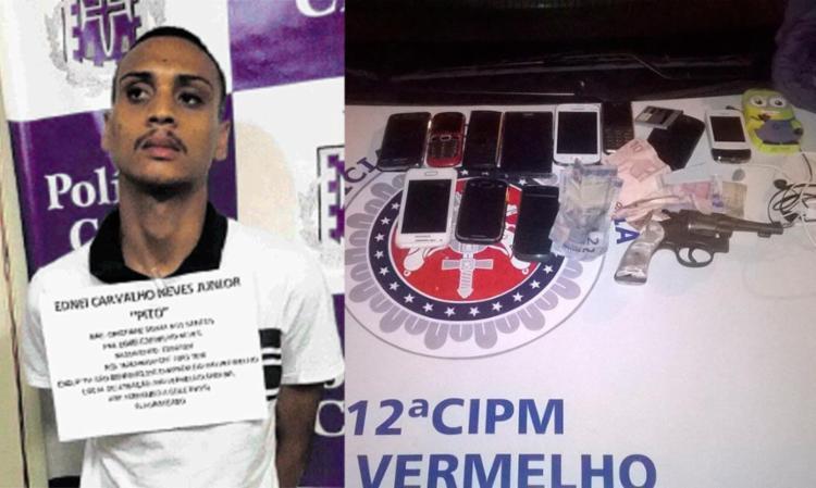 Com Pito, foram encontrados celulares e uma arma - Foto: Divulgação | SSP/BA