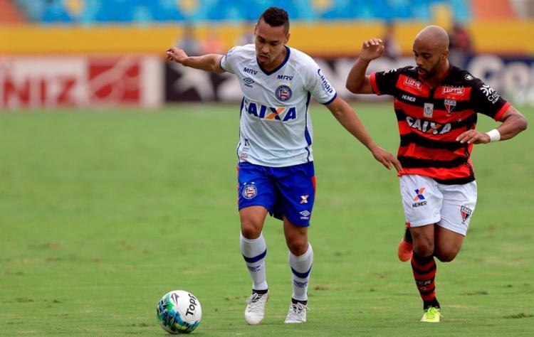Edigar Junio foi o autor do único gol do Bahia - Foto: Felipe Oliveira | EC Bahia