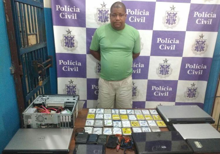 José Luis Moura foi preso neste sábado, 26, no centro de Ilhéus - Foto: Reprodução | Blog Agravo
